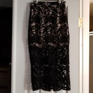 Dresses & Skirts - Stone cold fox maxi lace skirt